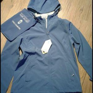 Free Country packable waterproof rain jacket NWT
